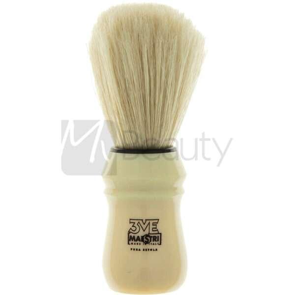 Pennello Da Barba Manico In Plastica Avorio Setola Sbiancata 3Me Gentlemen'S Barber Club MAESTRI