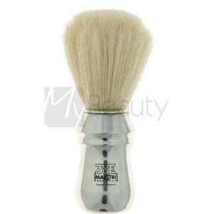 Pennello Da Barba Professionale In Alluminio Setola Sbiancata 3Me Gentlemen'S Barber Club MAESTRI