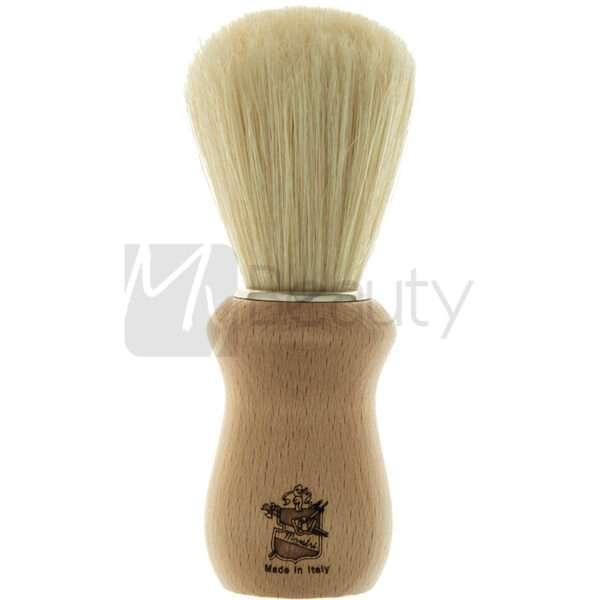 Pennello Da Barba Manico In Legno Setola Sbiancata 3Me Gentlemen'S Barber Club MAESTRI