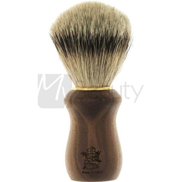 Pennello Da Barba Manico In Noce Puro Tasso 3Me Gentlemen'S Barber Club MAESTRI