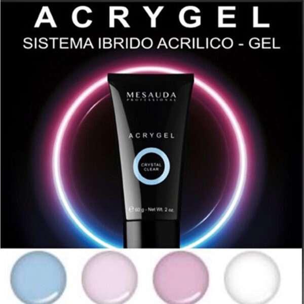 Sistema Ibrido Acrilico/Gel Per Unghie Acrygel 60Gr MESAUDA