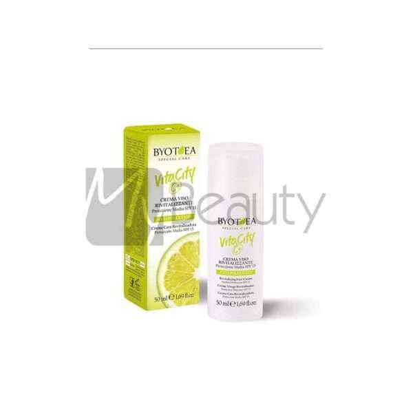 Crema Viso Rivitalizzante Protezione Media Spf 15 Antipollution Vitacity BYOTEA