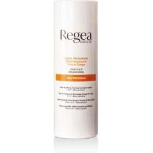 950.345 Latte attivatore abbronzatura viso e corpo vitamina E betacarotene 900ml REGEA