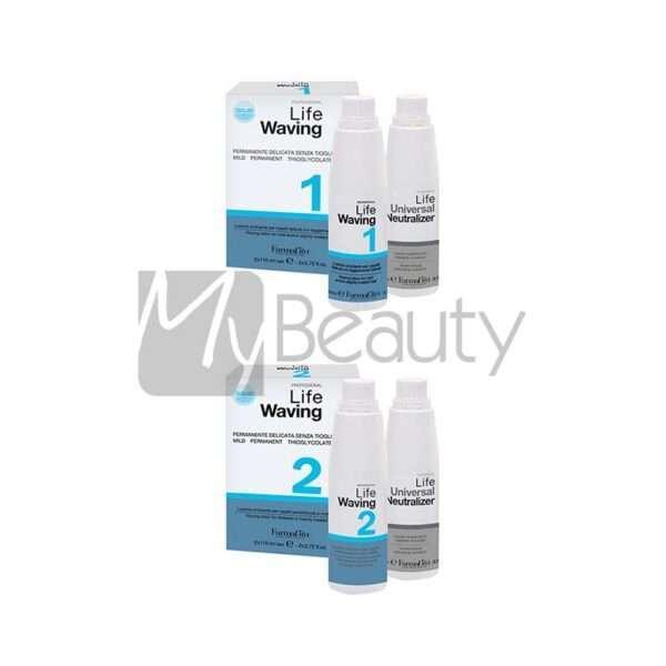 Kit Sistema Ondulante Life Waving Senza Tioglicolati Profumazione Al Limone Kit N.1/Kit N.2 Farmavita