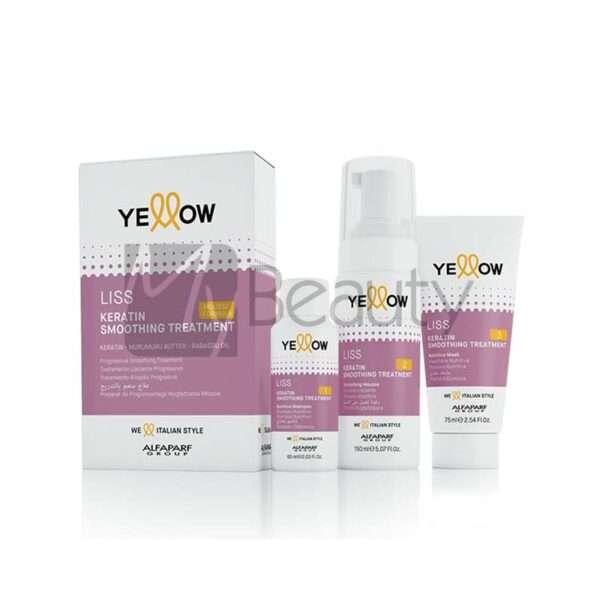 Trattamento Lisciante Alfaparf Yellow Liss Keratin Smoothing Kit 60+150+75Ml