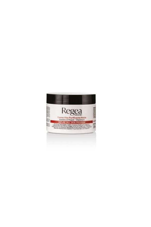 950.304 crema viso purificannte notte estratto di propoli e vitamina E 250ml Regea
