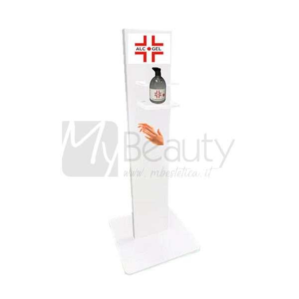 Totem Igienizzante Mani Con Con 500Ml Di Prodotto In Omaggio Safety Alcogel