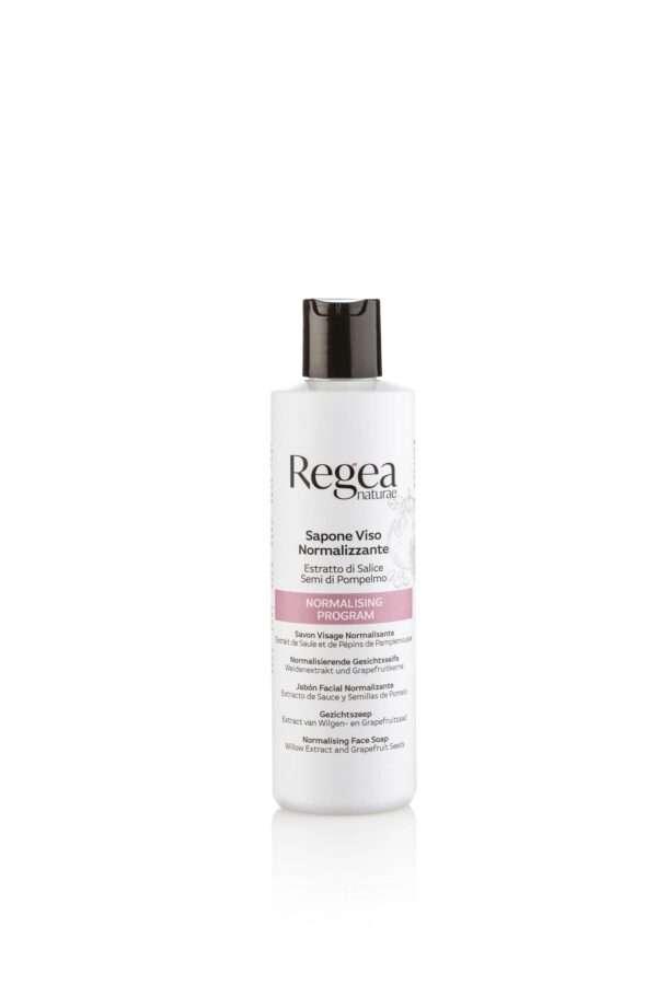 950.364 Sapone detergente viso normalizzante estratto di salice e semi di pompelmo 250ml REGEA