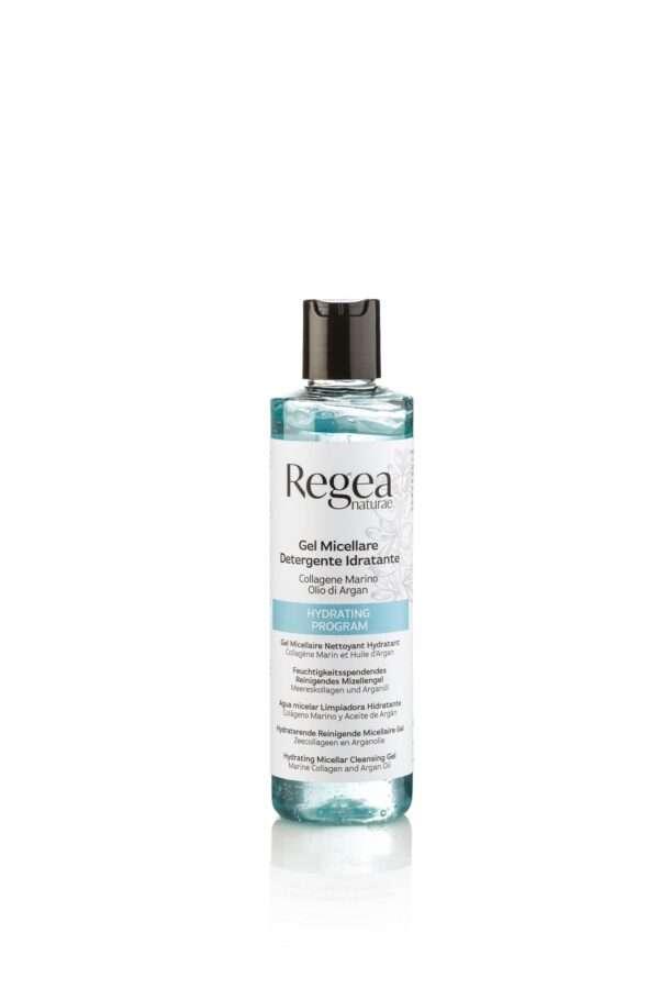 950.377 Gel micellare detergente idratante collagene marino e olio di argan 250ml REGEA